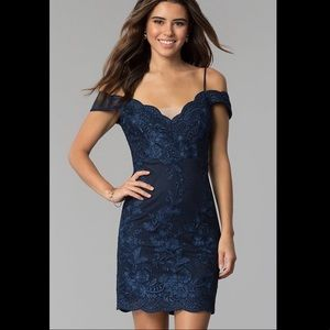 PromGirl Dresses - Prom Girl Navy Lace Dress